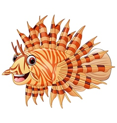 Lion fish cartoon vector