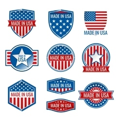 Made in USA icons vector