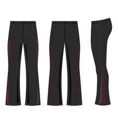 Man outlined dark template skinny flare pants vector