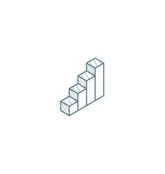 mobile network signal isometric icon 3d line art vector image