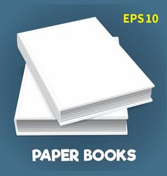Mock-ups of paper books-06 vector