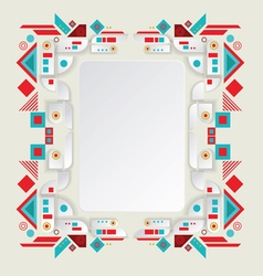 Modern aztec frame for material design vector image