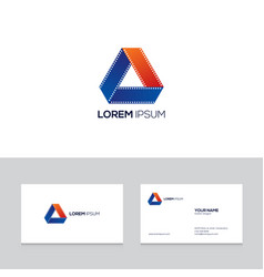 moivie and film emblem design element can be used vector image