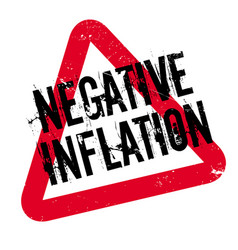 negative inflation rubber stamp vector image