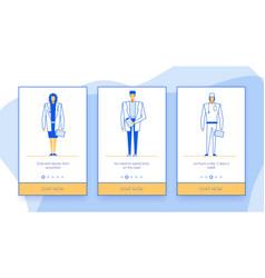 online doctor internet chat mobile application set vector image