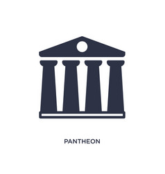 Pantheon icon on white background simple element vector