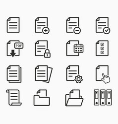 paper and documents file format - archive vector image