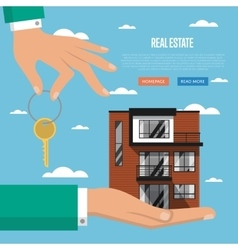 Real estate agency website template vector