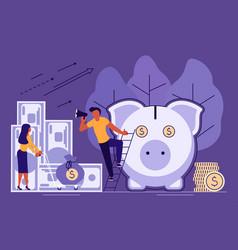 Saving or accumulating money concept vector