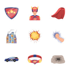 Shield protection superman and other web icon vector