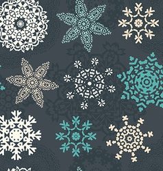 Snowflake Xmas Patter vector
