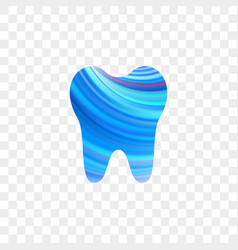 tooth logo dentist stomatology dental icon vector image