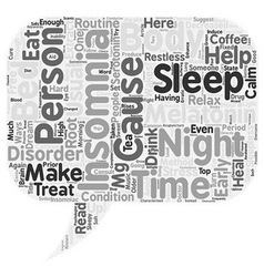 Top 10 Drug Free Ways to Say Good Night to vector image