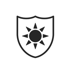 Uv protection isolated icon isolated solar or sun vector