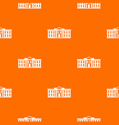 White house usa pattern seamless vector