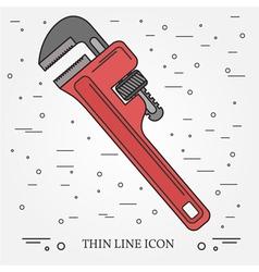 Wrench Icon Wrench Icon Wrench Icon Drawing Wrenc vector image