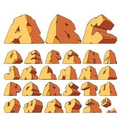 Alphabet made of stone vector