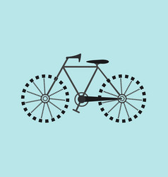 flat bicycle icon vector image vector image
