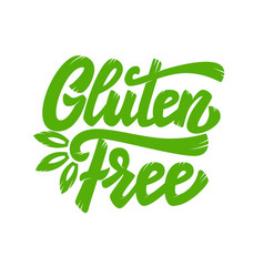 Gluten free lettering phrase isolated on white vector