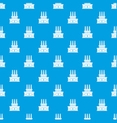 large oil refinery pattern seamless blue vector image vector image