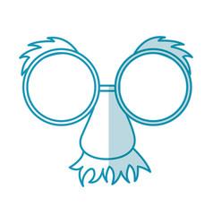 Shadow party mask cartoon vector