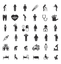 Sick and medical icons People health care vector image vector image