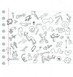 Arrow doodles vector