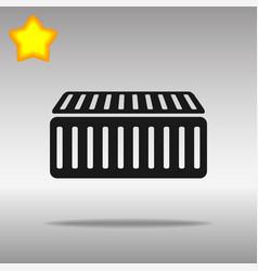 black cargo container icon button logo symbol vector image vector image