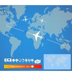flight vector image