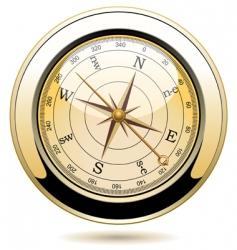 golden vintage compass vector image vector image