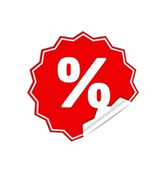 Sticker percent vector image