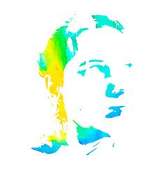 watercolor silhouette woman vector image vector image