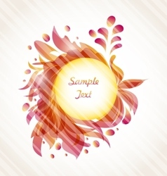 Abstract Flourish Transparent Frame vector image