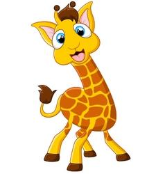 Cartoon giraffe posing vector image vector image