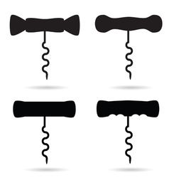 corkscrew black vector image vector image