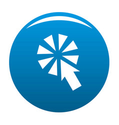 cursor interactive click icon blue vector image vector image