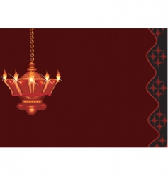 divine lamp vector image