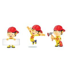 Fireman 1 vector image vector image
