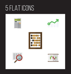 Flat gain set of growth scan diagram and other vector
