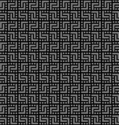 Geometric black seamless pattern vector image vector image