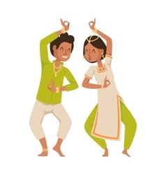 Indian dancer bollywood traditional party culture vector image vector image
