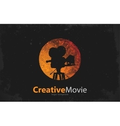 movie logo Creative movie design Camera logo vector image
