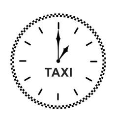 taxi clock icon vector image