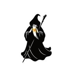 wizard cartoon character design vector image vector image