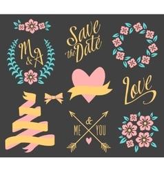 BIG Wedding graphic set vector image vector image