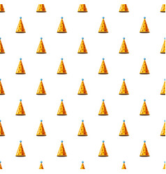 gold party hat pattern vector image vector image