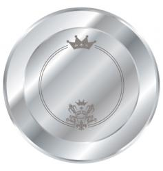 silver button vector image vector image
