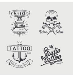 Tattoo studio logo templates vector image