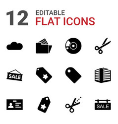12 copy icons vector image