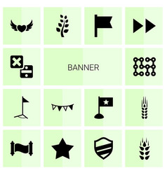 14 banner icons vector image